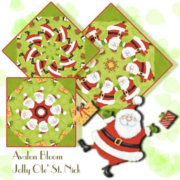 Jolly Ole' St. Nick Kaleidoscope Lap Quilt