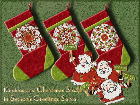 Christmas Stocking Kit.Season S Greetings Santa Kaleidoscope Christmas Stocking Kit