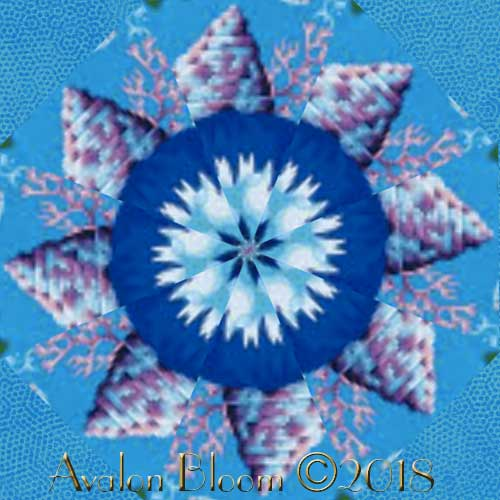 Kaffe Fassett Shell Bouquet  Kaleidoscope Quilt Block Kit