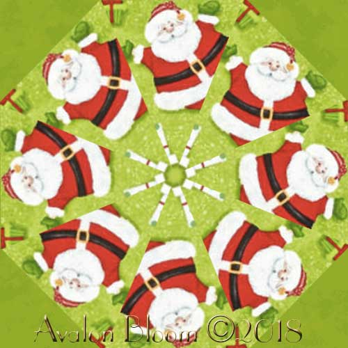 Jolly Ole' St. Nick Kaleidoscope Quilt Block Kit