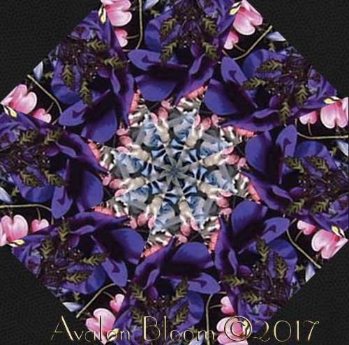 Giverny Kaleidoscope Garden  Kaleidoscope Quilt Block Kit