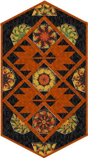 All About Autumn Table Runner Pattern