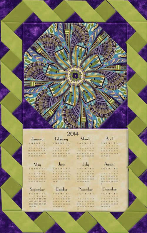 Calendar Wall Hanging Pattern and Insert