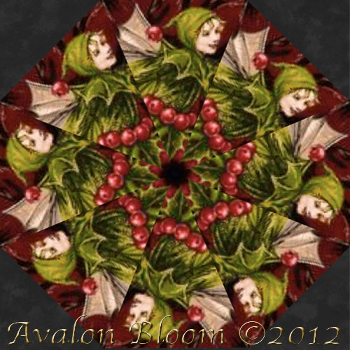 Holiday Flower Fairies Kaleidoscope Quilt Block Kit