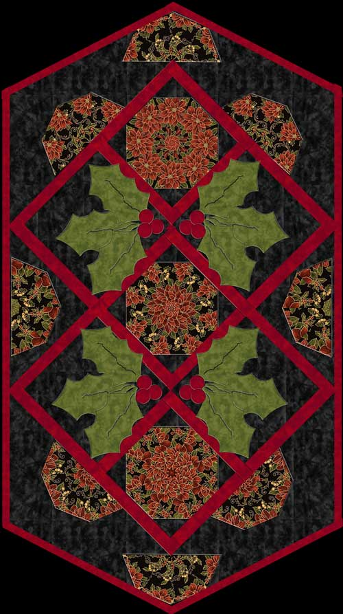 Holly Day Table Runner Pattern