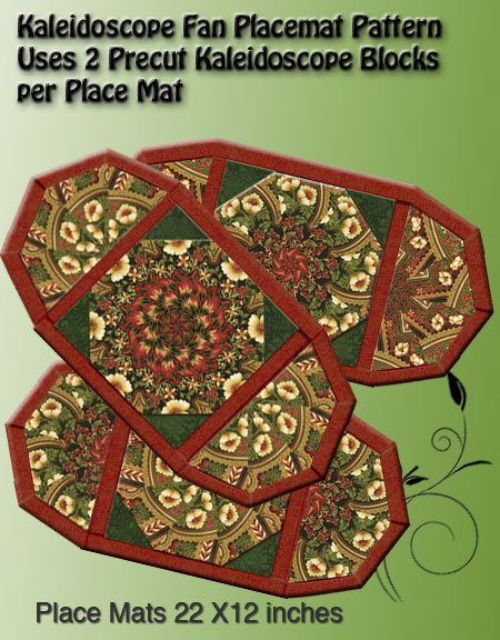 Kaleidoscope Fan Place Mat Pattern