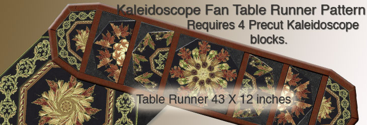 Kaleidoscope Fan Table Runner Pattern