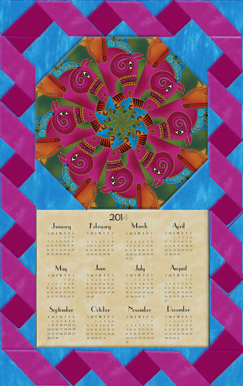 Laurel Burch Embracing Horses Calendar Wall Hanging Kit