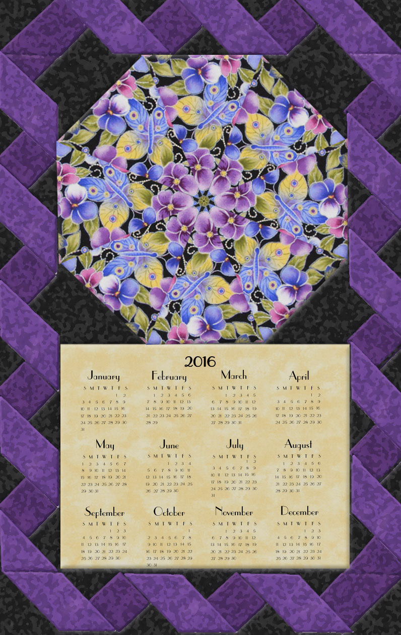 Pansy Passion Calendar Wall Hanging Kit