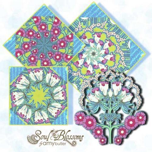 Quilt Block Kits Amy Butler Soul Blossom Fuschia Tree
