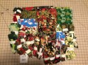 Stash Box of Christmas Scraps and Fabric Lot 1