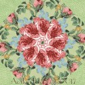 Kaffe Fassett Lake Blossoms Pink Kaleidoscope Quilt Block Kit
