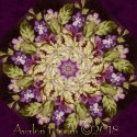 Aubergine Kaleidoscope Quilt Block Kit