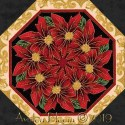Holiday Flourish 12 Border Kaleidoscope Quilt Blo