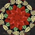 Poinsettia Grandeur Filligree Kaleidoscope Quilt Block Kit