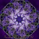 Enchantment Packed Purple Roses Kaleidoscope Quilt Block Kit