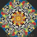 Laurel Burch Mythical Jungle Kaleidoscope Quilt block Kit