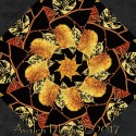 Autumn Splendor Fall Folliage Kaleidoscope Quilt Block Kit