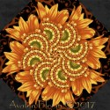 Harvest Gathering Sunflower Kaleidoscope Quilt Block Kit