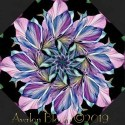 Flora Fantasia Black Kaleidoscope Quilt Block Kit