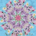 Cats in Flower Crowns Kaleidoscope Quilt Block Kit