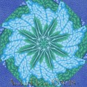 Kaffe Fassett Big Leaf Blue Kaleidoscope Quilt Block Kit