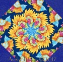 Butterflies are Free Sunflower Kaleidoscope Quilt Block Kit