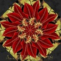 Joyful Season Poinsettias Kaleidoscope Quilt Block Kit