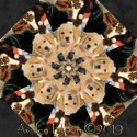 Fireside Pups Kaleidoscope Quilt Block Kit