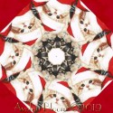 Holiday Cats in Hats  Kaleidoscope Quilt Block Kit