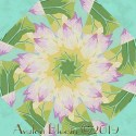 Kaffe Fassett Lake Blossom Green Kaleidoscope Quilt Block Kit