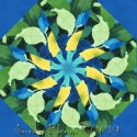 Deep Forrest Kaleidoscope Quilt Block Kit