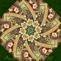 Holiday Flourish 10 MedallionKaleidoscope Quilt Block Kit