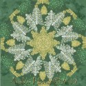 Seasons Greetings Christmas Trees Kaleidoscope Quilt Block Kit