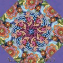 Laurel Burch Sea Goddess Kaleidoscope Quilt block Kit