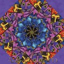 Laurel Burch Feline Frolic Kaleidoscope Quilt block Kit