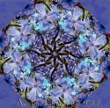 Giverny Tending to Wildflowers Kaleidoscope Quilt Block Kit