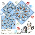 Whiskers and Tails Kaleidoscope Quilt Block Kit