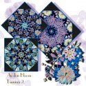 Peggy Toole Lumina 2 Floral  Kaleidoscope Quilt Block Kit by Avalon Bloom