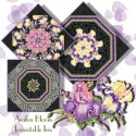 Flash Dance Purple by Paula Nadelstern Kaleidoscope Quilt Blo
