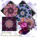 Proud as a Peacock Dahlia  Flower Garden Double Size Quilt Top Kit
