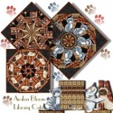 Library Cats Kaleidoscope Quilt Block Kit