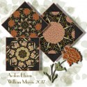 William Morris 2017 EbonyKaleidoscope Quilt Block Kit