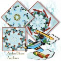 Airplane Kaleidoscope Quilt Block Kit