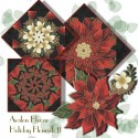 Holiday Flourish 8  Kaleidoscope Quilt Block Kit