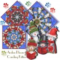 Caroling Kitties Kaleidoscope Quilt Block Kit