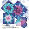 Reverie Tossed Flowers Kaleidoscope Quilt Block Kit