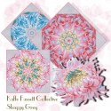 Kaffe Fassett Japanese Chrysanthemum Kaleidoscope Quilt Block Kit
