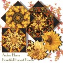Bountiful Harvest Flowers Kaleidoscope Quilt Block Kit