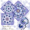Pansy Passion Kaleidoscope Quilt Block Kit